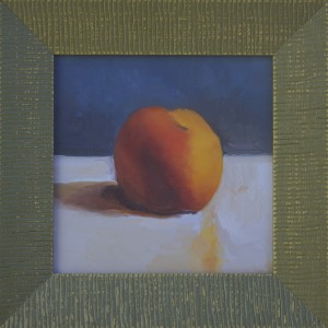 Peach 6x6 $175 Oil on Board Framed