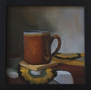 Coffee Cup 8x8 Oil on Board $350 SOLD